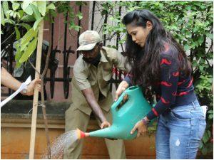 Rupali Suri at Make Earth Green Again MEGA Foundation tree plantation drive
