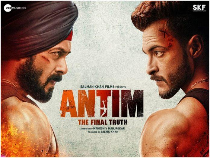Antim: First poster reveals the ferocious fight between Salman Khan and Aayush Sharma
